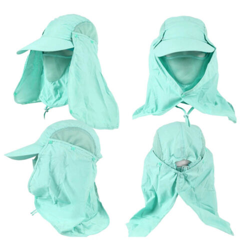 360°Outdoor UV Protection Ear Flap Neck Cover Sun Hat Cap Fishing Hunting Hiking