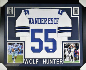 check out 5ea51 064f5 Details about Leighton Vander Esch Signed Dallas Cowboys 35x43 Custom  Framed Jersey (JSA COA)