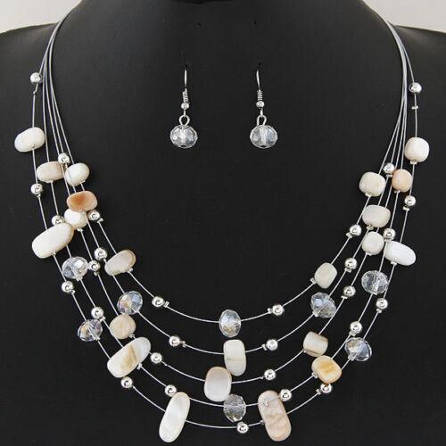Femme Bohême Chaîne et Pendentif Déclaration Bib Collier Charme Jewelry