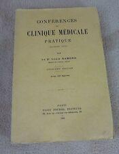 CONFERENCES DE CLINIQUE MEDICALE PRATIQUE 2 EME SERIE - DR RAMOND - VIGOT 1926