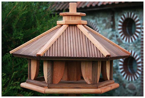 VOGELHAUS aus HOLZ Vogelhäuschen Vogelhäuser Vogelfutterhaus Futterspender XXL