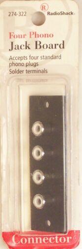 Panel-Mount Female RCA Phono Jack Board RadioShack 274-322 ~ Quad Four 4
