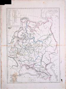 Carte de la RUSSIE D'EUROPE et de la POLOGNE- L. Dussieux 1846. 33.5 x 44 cm. akeSHp3v-09165319-674926882