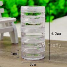5Pc/set  Nail Art Glitter Powder Studs Charms Manicure Empty Case Box Storage