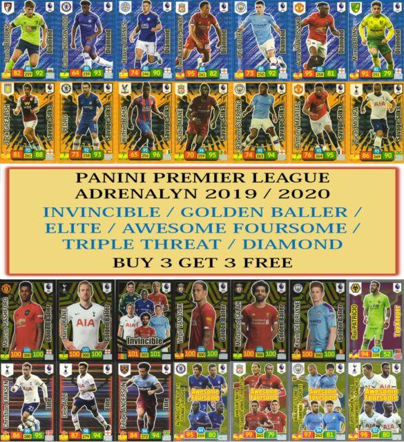 Panini Premier League Adrenalyn XL 2019/20 Elite Invincible Golden Baller cards