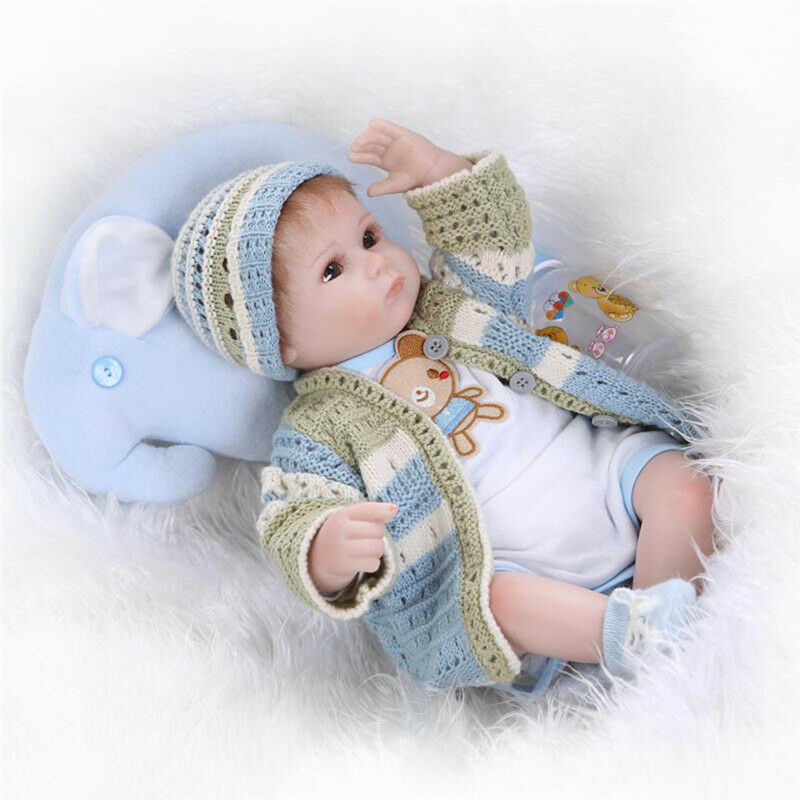 17  LOVELY reallike Nuovoborn Baby siliconi realistic reborn doll veleno BABY TOY LM