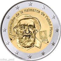France 2 euro 2012  , 100th Anniversary of Abbé Pierre's birth Commemorate UNC