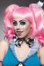 Damen Perücke Langhaarperücke rosa pink Karneval Fasching NEU Harlekin Clown #12