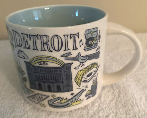STARBUCKS MUG DETROIT - BEEN THERE SERIES ACROSS THE GLOBE COLLECTION