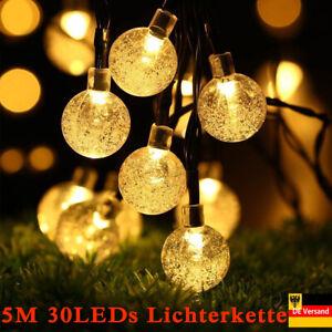 Led Solar Lichterkette Garten Party Innen Außen Beleuchtung Deko