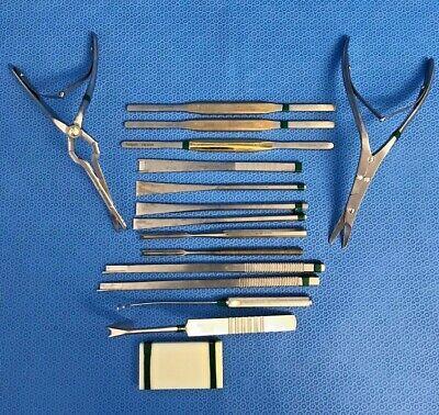 16 Piece Karl Storz Pilling Weck Rhinoplasty/septum Instrument Set Ent