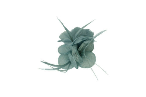 Small Flower Feather Wedding Hat Fascinator Brooch Clip Prom Royal Ascot Formal