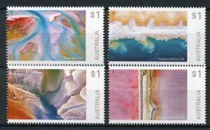 Australia-2018-MNH-Art-in-Nature-Shark-Bay-Lake-MacDonnell-4v-Set-Stamps