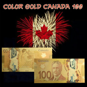 WR-100-Canada-Dollar-Polymer-Banknote-Colored-Gold-Foil-Money-For-Collection