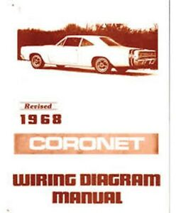 1968 Dodge Coronet Wiring Diagram Manual | eBay