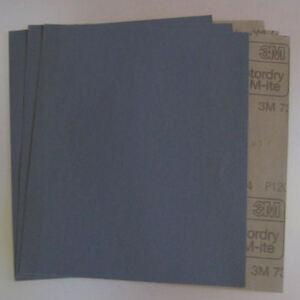 3M 734 Nassschleifpapier (P180/P240/P320/P400/P600/P800/P1000/P1200) 10 St.-Pack