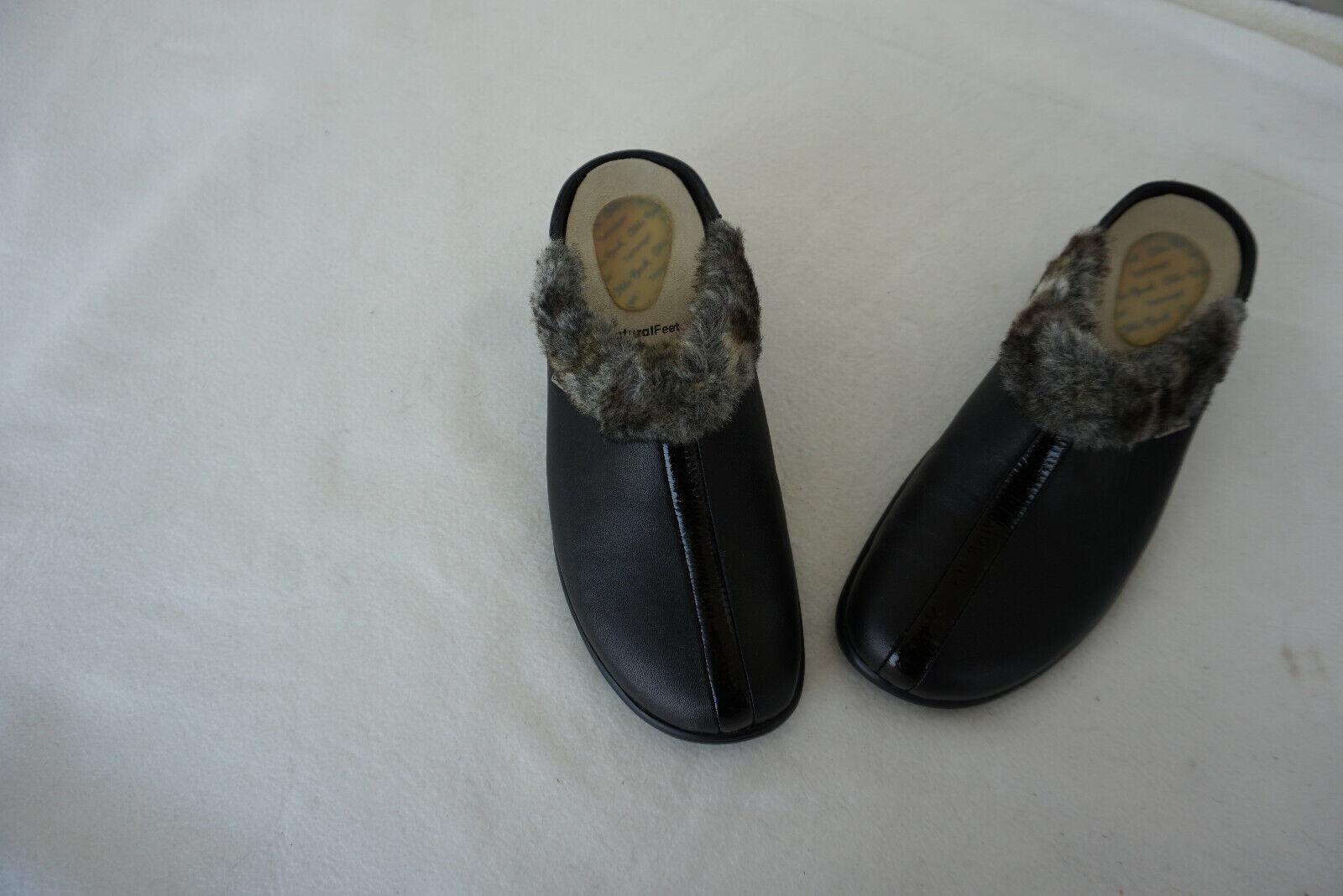 Ortopédico Otto Bock señora sandalias zapatos Clogs cálido negro de cuero nuevo