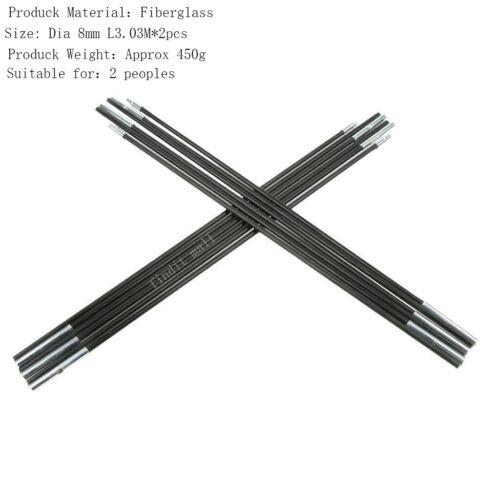 Fiberglass Pole For Camping Tent Pole Kit Rod Replacement Adjustable Tarp Pole