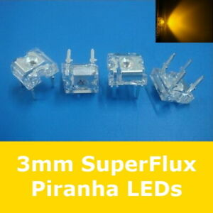S572-20-Stueck-LED-3mm-gelb-SuperFlux-Piranha-80-LEDs-yellow