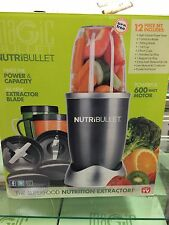 NutriBullet 12-pc 600W Blender/Mixer Extractor Blender Juicer Nutri Bullet