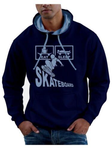 Smartphone Compatible Eat Sleep Skateboard Hoodie Sweatshirt