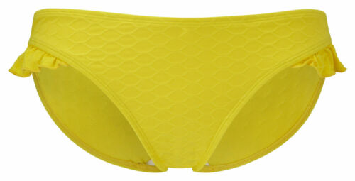 CLEO By PANACHE Matilda Side Frill BIKINI BRIEF Yellow CW0089 Size 18 NEW