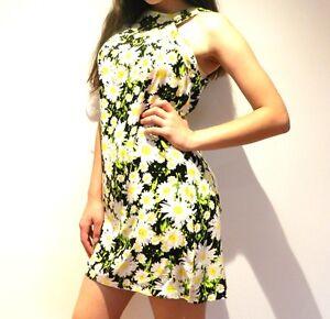 New-Tunic-Shift-Dress-Floral-Daisy-Ladies-8-10-12-Small-Medium-Large-New-SALE