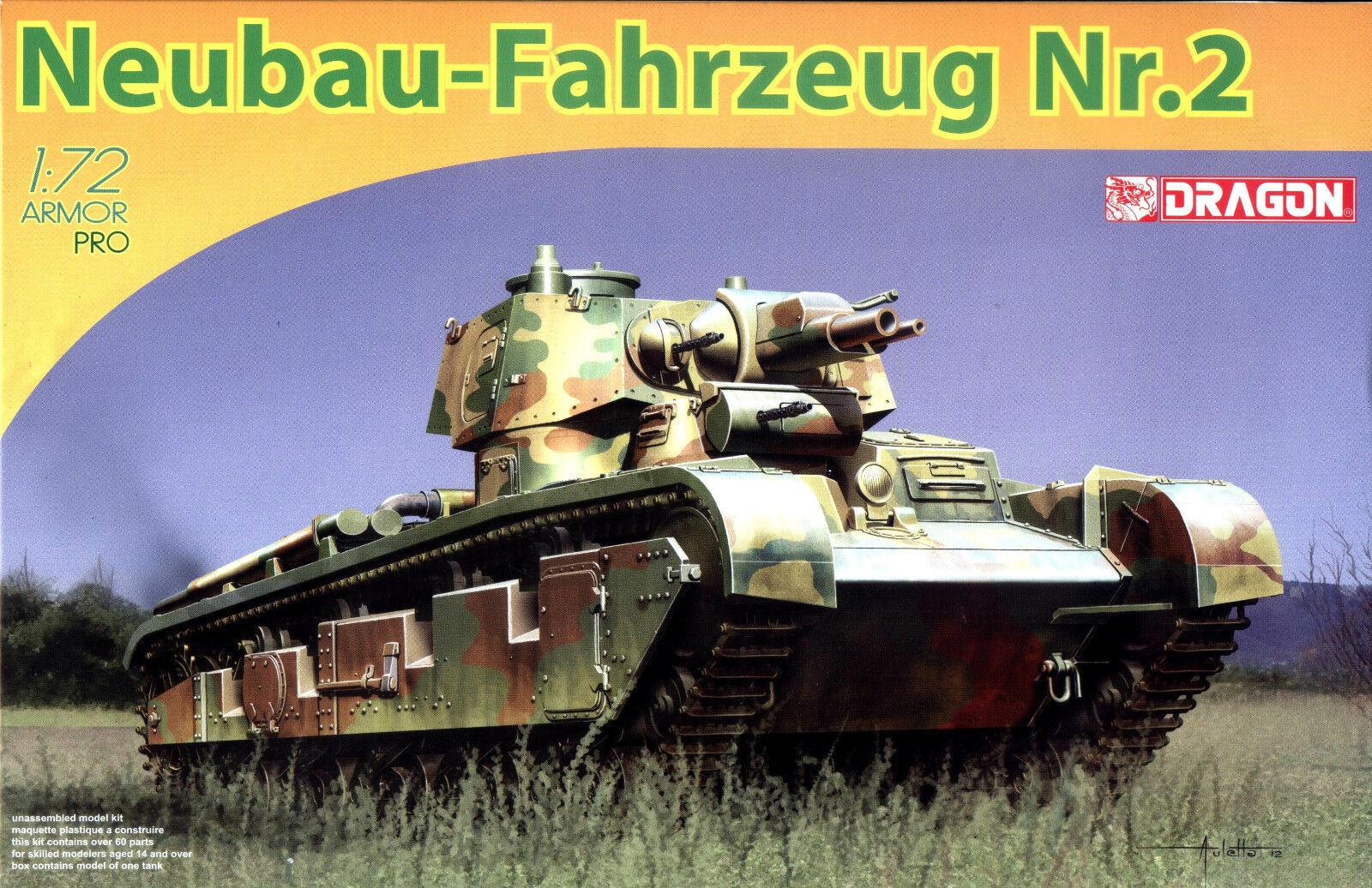 Dragon 1 72 7437 WWII German Neubau-Fahrzeug Nr.2 Multi-Turreted Heavy Tank