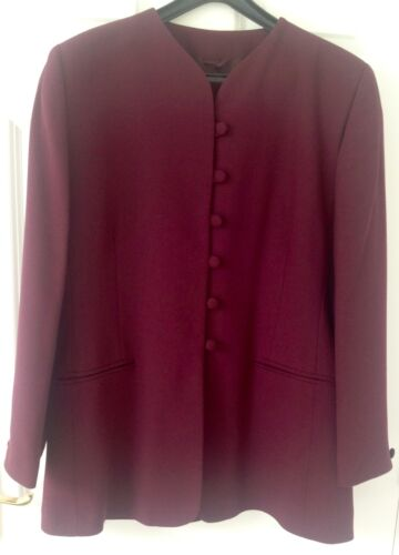 Hip Jacket Size Burgundy Berkatex 16 Vgc Lunghezza Vintage qPzRc