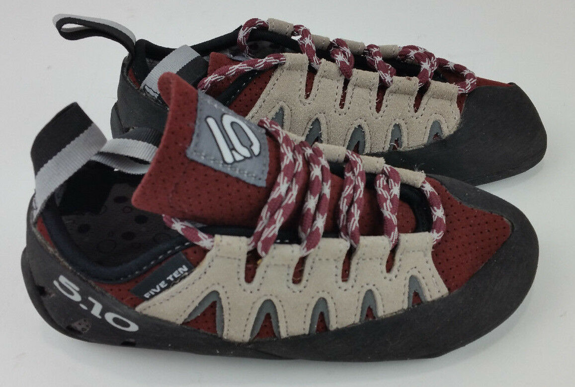 5.10 FIVE TEN Siren Stealth Onyxx Youth Climbing shoes Size 5 Pre-Owned Merlot