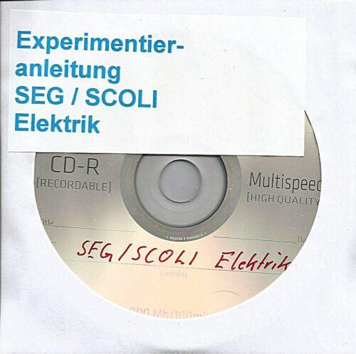 """11 154 SEG SCOLI """"Anleitung Elektrik """" als Bilddatei auf Datenträger"""