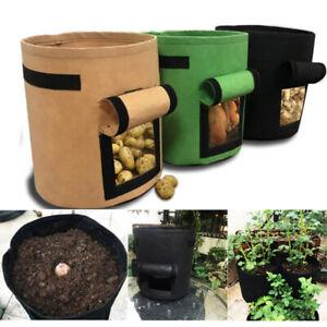 Fabric Grow Bag Root Smart Plant Pots Potato Tomato Sack Side Vegetable Planters