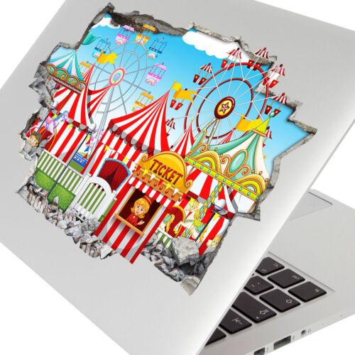 Wall Stickers Funfair Circus Kids Nursery Bedroom Girls Boys Laptop Room C650