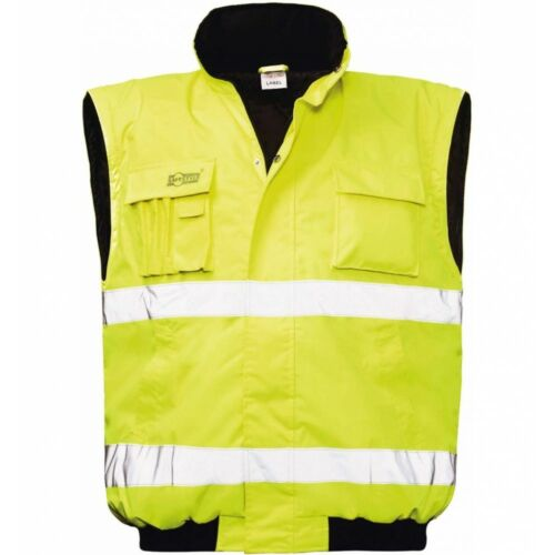 Safestyle Warnschutz-Pilotenjacke Roland Outdoor Arbeitsjacke gelb NEU Workwear
