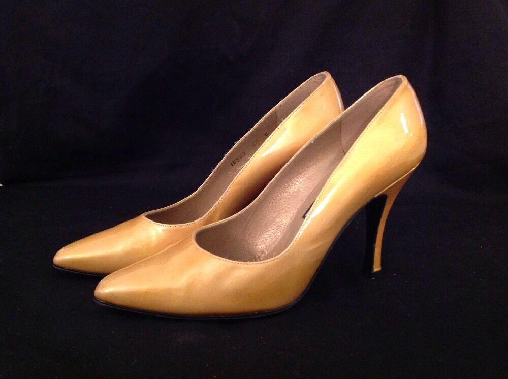 STUART WEITZMAN Yellow Patent Leder Stiletto Heels Pumps Damenschuhe Sz 6.5 B Spain