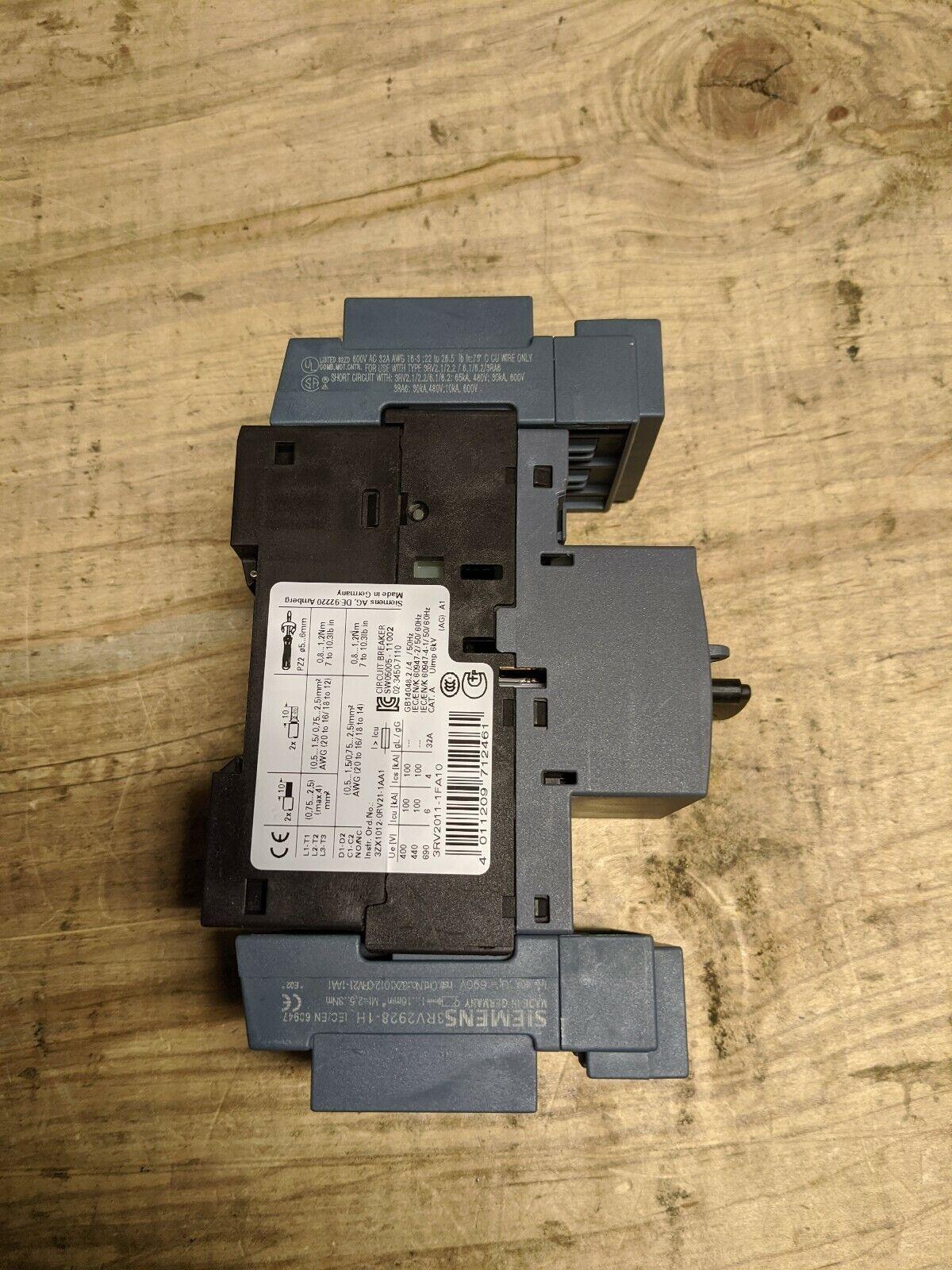 SIEMENS 3RV2011-1FA10 3RV20111FA10  MOTOR OVERLOAD PROTECTION