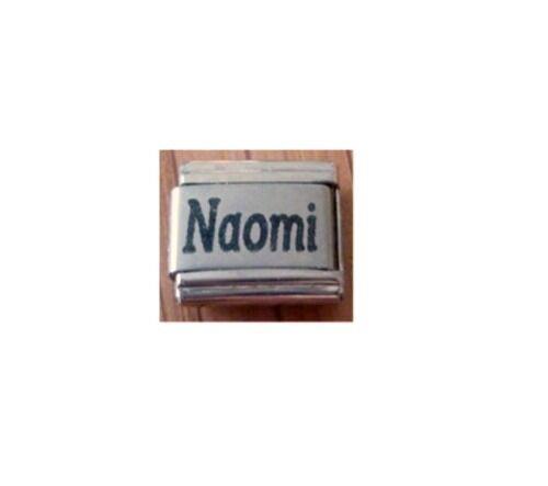 9mm Classic Size Italian Charm Names Name Naomi