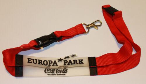 T257 Coca Cola Europa Park Schlüsselband Lanyard NEU