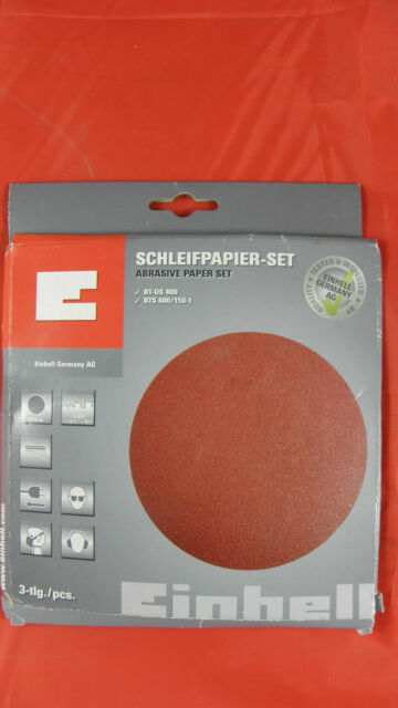 Einhell Schleifpapier-Set BT-US 400   BTS 400/150-1    3-tlg./pcs