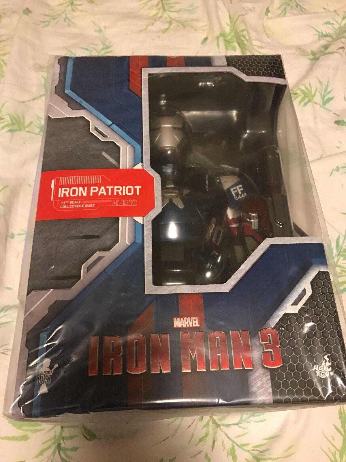 Hot Juguetes Iron Man 3 Iron Patriot 1 4 Busto totalmente nuevo vendedor de Estados Unidos