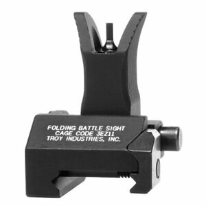 Troy Industries Front Folding Style Battle Sight (Black) - SSIG-FBS-FMBT-