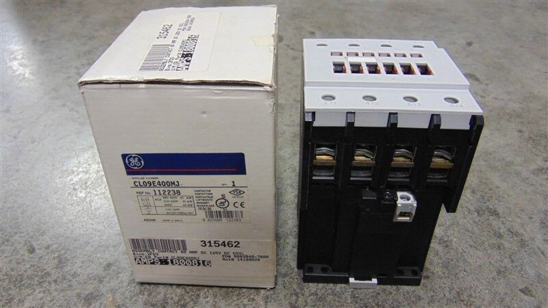 NEW General Electric CL09E400M Contactor 7.5-75 HP 110-125V Coil