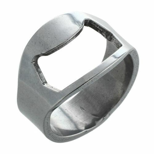 2x stainless steel finger ring bottle opener beer bottle opener H3J7 mk