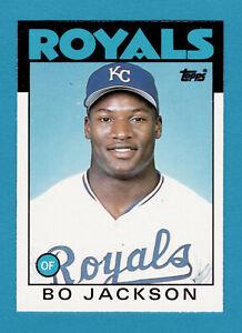 BO JACKSON 1986 TOPPS TRADED ROOKIE CARD #50t K.C. ROYALS  RC SET BREAK NICE!