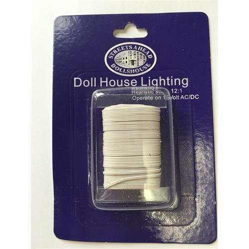 dolls house miniature 12 volt twin flex wire for lighting de086 fordolls house miniature 12 volt twin flex wire for lighting de086 for sale online ebay
