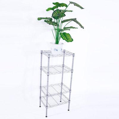 "4 Tier 14/""X10/""X32/"" Shelves Wire Shelving Rack Shelf Adjustable Storage Organizer"