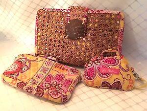 Vera-Bradley-Clutch-Bag-034-Bali-034-amp-ID-Coin-Purse-and-Wallet