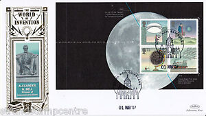 2007 World of Invention Prestige Stamp Book - Benham Gold (500) Official's