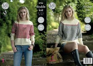 89065ca75 Image is loading King-Cole-4746-Knitting-Pattern-Womens-Raglan-Sweaters-