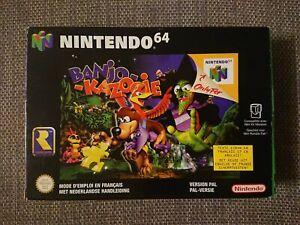 Banjo-Kazooie Nintendo 64 N64 versión Europea Francais Nederlandse completa CIB